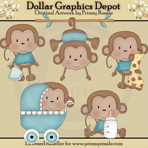 Baby shower monkey clip art vector freeuse download Monkey Baby Shower Clipart - Clipart Kid vector freeuse download