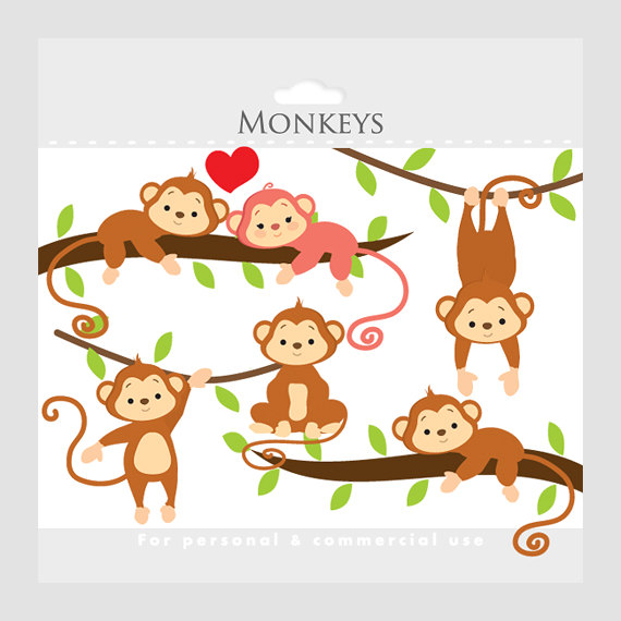 Baby shower monkey clip art clipart black and white download Baby monkey clipart free - ClipartFest clipart black and white download
