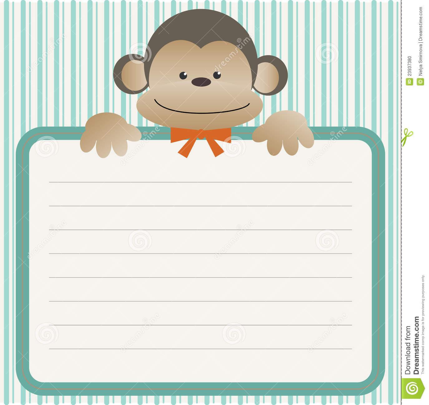 Baby shower monkey clip art image free download Background babyshower monkey clipart - ClipartFest image free download