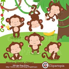 Clipart kid cute party. Baby shower monkey clip art