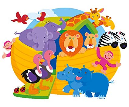 Baby shower noahs ark animals clipart image download Amazon.com: Noah\'s Ark Baby Shower Edible Cupcake Toppers Decoration ... image download