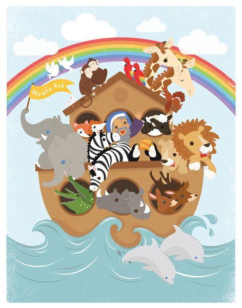 Baby shower noahs ark animals clipart svg transparent download noah\'s ark clip art for a baby shower | Noah\'s Ark illustration ... svg transparent download