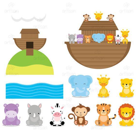 Baby shower noahs ark animals clipart banner Risultati immagini per noah\'s ark animals clipart | Twins Baby ... banner