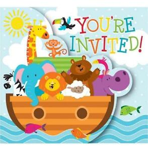 Baby shower noahs ark animals clipart svg Details about Noah\'s Ark Cute Cartoon Animals Boat Baby Shower Party  Invitations w/Envelopes svg