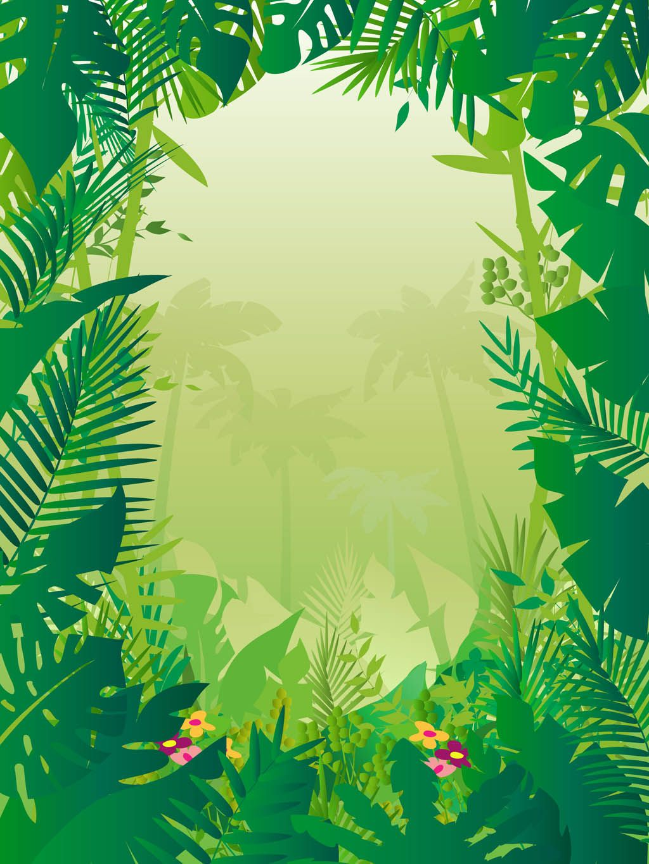 Baby shower safari background clipart graphic transparent download Jungle Background | Evan\'s Jungle Baby Shower | Jungle illustration ... graphic transparent download