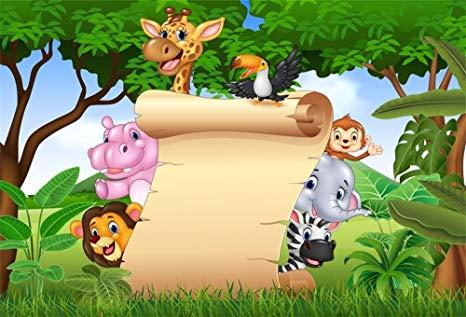 Baby shower safari background clipart clip art royalty free Amazon.com : LFEEY 9x6ft Safari Backdrop for Baby Shower for Boy ... clip art royalty free