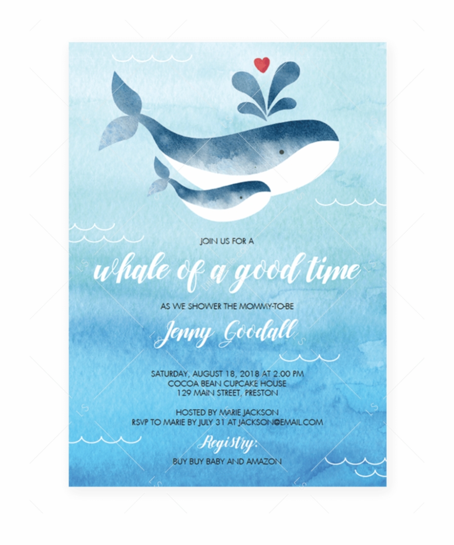 Whale Baby Shower Invitation Template By Littlesizzle - Boy Baby ... vector stock