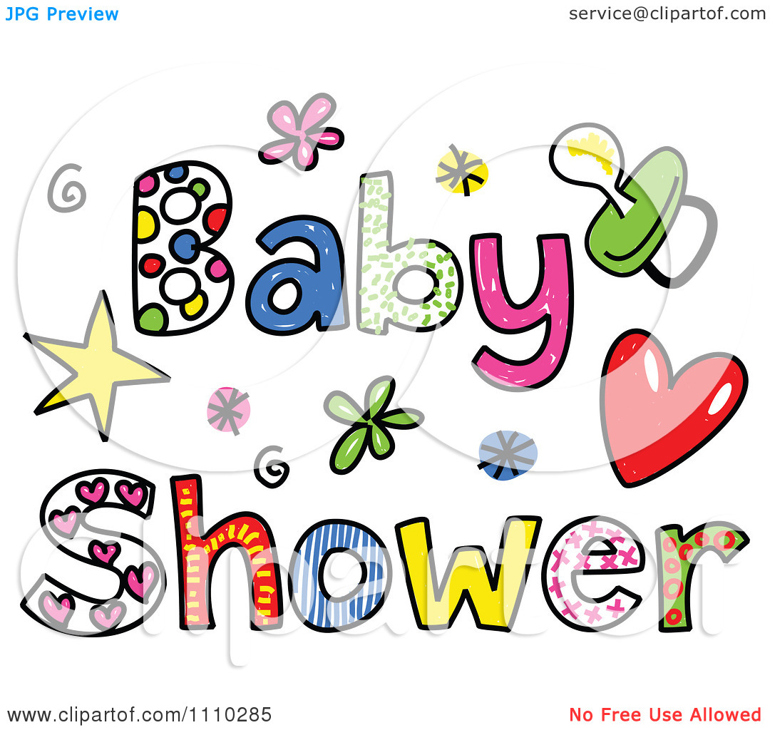 Funny shower kid luau. Baby showers clipart