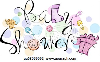 Baby showers clipart