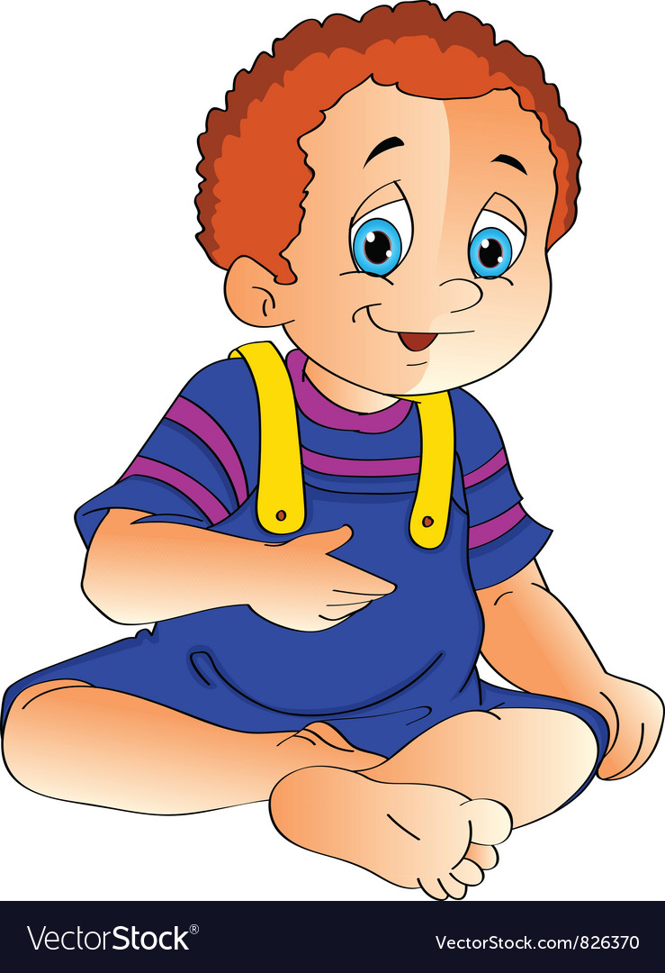 Baby sitting up clipart png free library Baby sits and looking up png free library