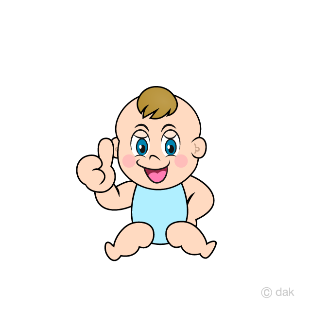 Baby sitting up clipart jpg black and white Thumbs Up Baby Clipart Free Picture|Illustoon jpg black and white