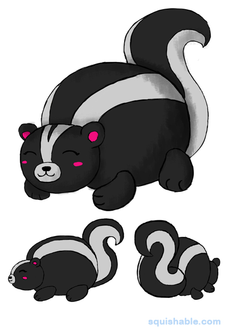 Baby skunk clipart clip library library squishable.com: Squishable Baby Skunk clip library library