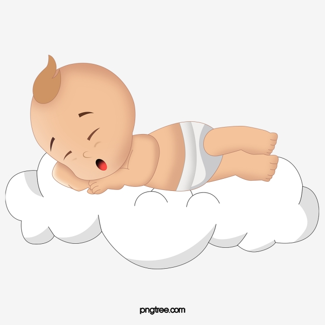 Baby Sleeping On The Clouds, Baby Clipart, Baby, Cartoon PNG ... image freeuse library