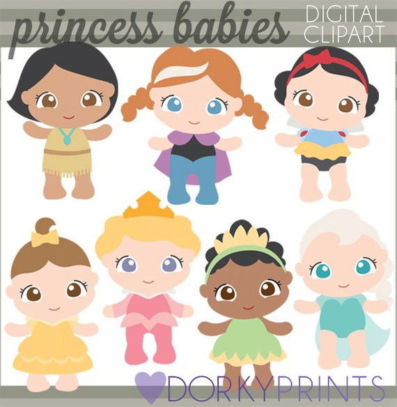 Baby sleeping during snow clipart jpg freeuse Princess Baby Clipart -Personal and Limited Commercial- Pocahontas ... jpg freeuse