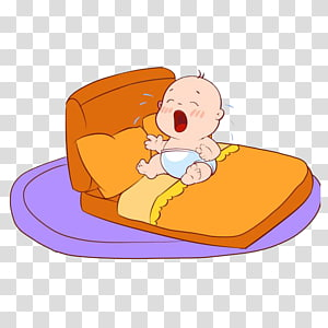 Baby sleeping on books clipart jpg royalty free library Baby sleeping on crescent moon illustration, Infant Sleep , Cartoon ... jpg royalty free library