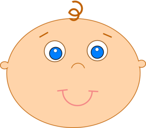 Baby smiley face clipart clip transparent library Happy Baby 2 Clip Art At Clker.com Vector Clip Art - Free Clipart clip transparent library