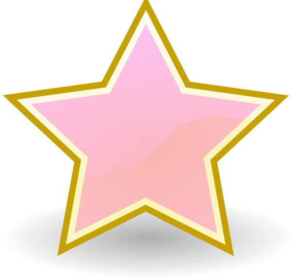 Baby star clipart png royalty free download Baby Pink Star Clip Art at Clker.com - vector clip art online ... png royalty free download