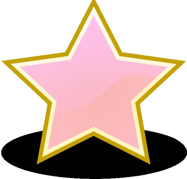 Star clipart pink clipart transparent stock Baby Pink Star Clip Art at Clker.com - vector clip art online ... clipart transparent stock