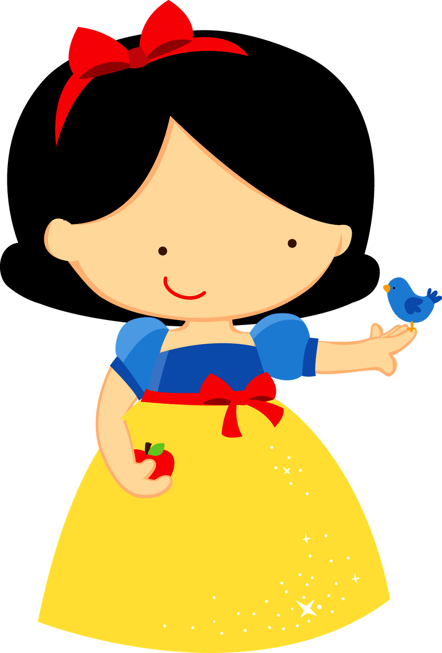 Snow white clipart apple vector freeuse stock Baby Snow White Clipart at GetDrawings.com | Free for personal use ... vector freeuse stock