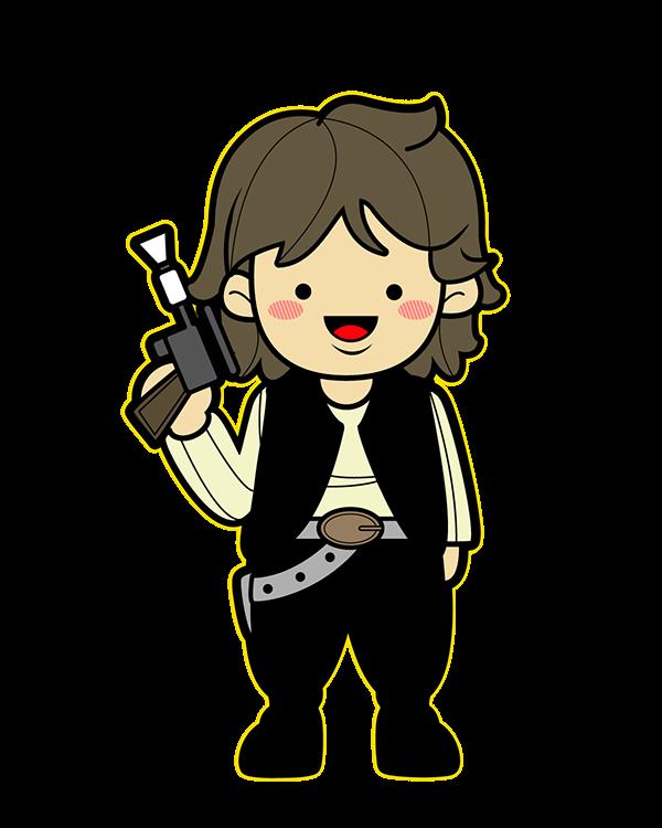 Cute star wars clipart freeuse Star Wars Kawaii Saga (Fanart) on Behance freeuse