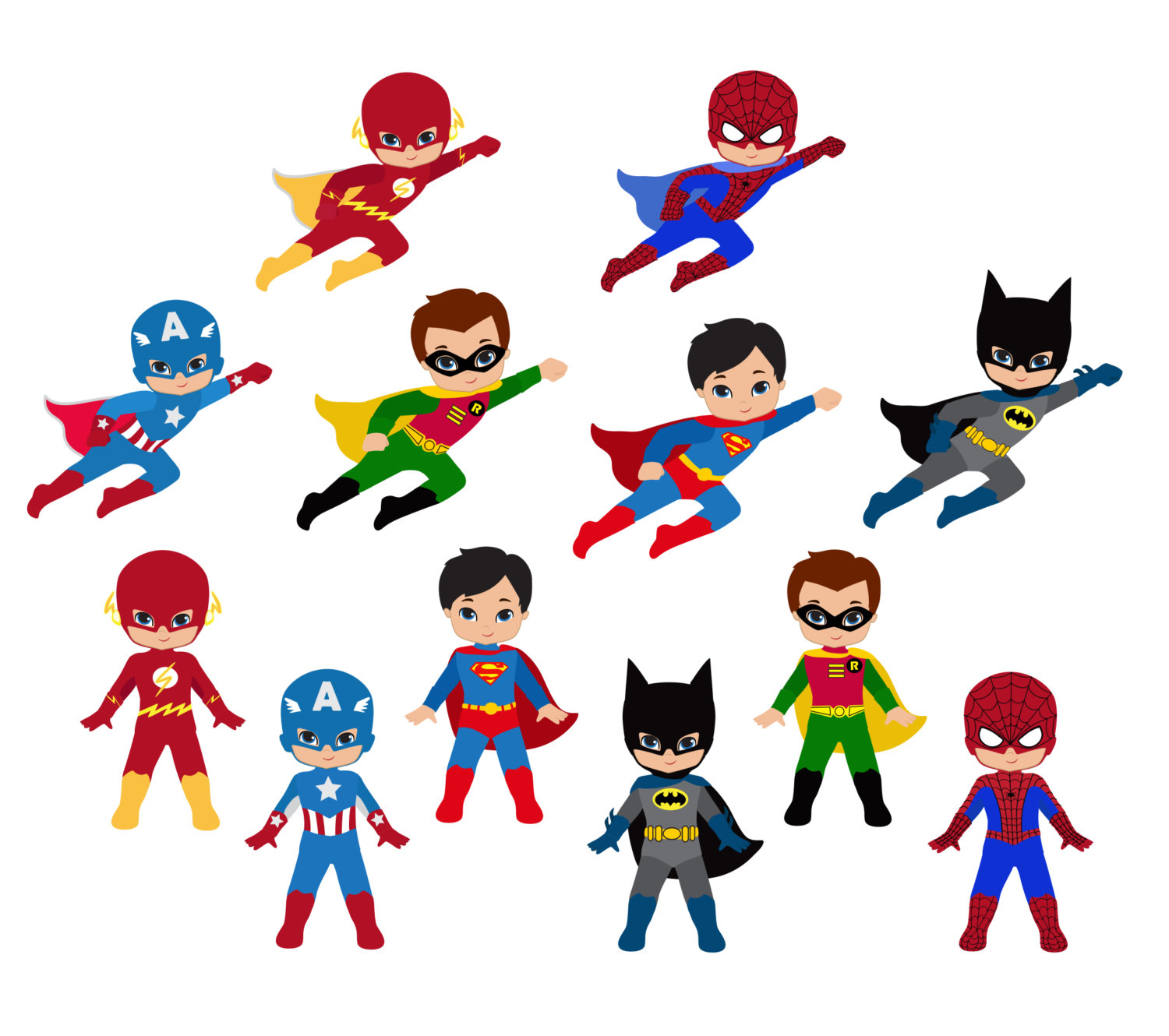 Baby superman clipart svg free library Flying superman boy clipart - ClipartFest svg free library