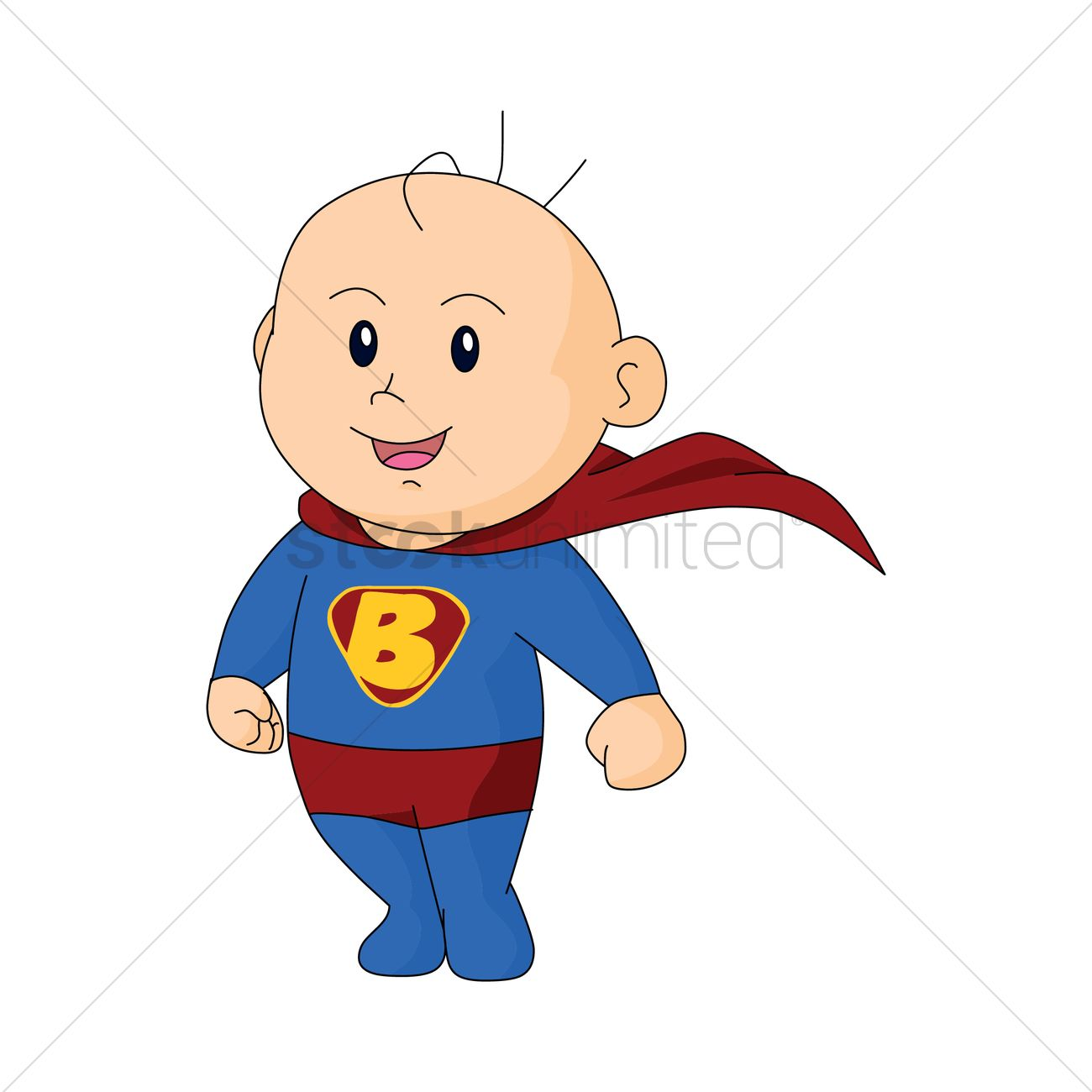 Baby superman clipart royalty free library Free Baby in superman dress Vector Image - 1273504 | StockUnlimited royalty free library