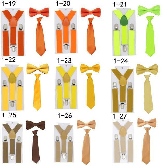 Baby suspenders and bow tie clipart png transparent download US $4.28 |New Kids Solid Color Suspenders Boys Girls Adjustable Clip on Y  Back Braces Elastic Baby Suspenders+Bow ties+ties Set Tirantes-in Men\'s ... png transparent download