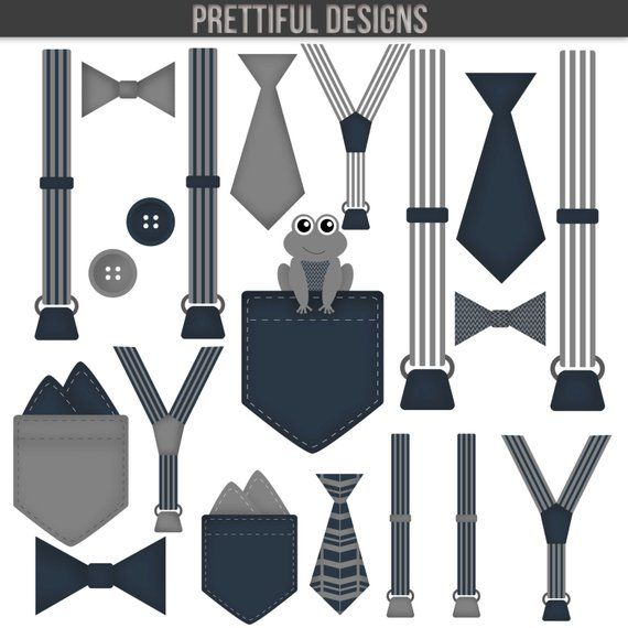 Baby suspenders and bow tie clipart image free download Boy Baby Bodysuit Accessories Clip Art Pocket Handkerchief Suspender ... image free download