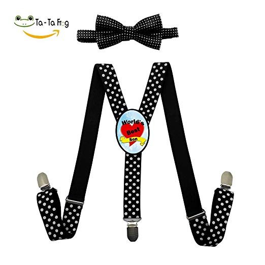 Baby suspenders and bow tie clipart clipart royalty free stock Amazon.com: World\'s Greatest Son Adjustable Suspender and Bow Tie ... clipart royalty free stock