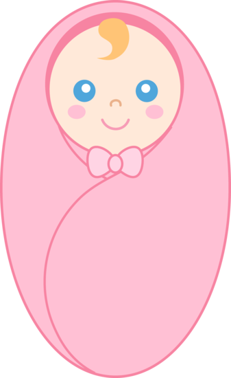 Baby swaddle clipart png free Swaddled Baby Girl - Free Clip Art png free
