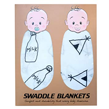 Baby swaddle clipart clip transparent download Baby Swaddle Blankets By Nurturehood: 2-Pack, Eco-Friendly Bamboo Cotton  Blend Swaddles For... clip transparent download