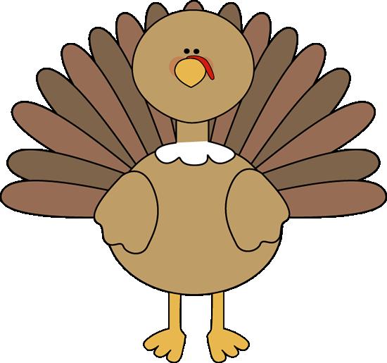 Turkey at school clipart
