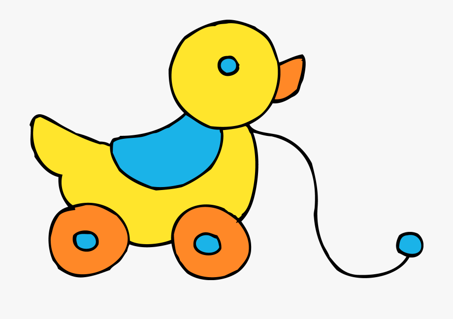 Baby toys clipart free vector free library Rolling Yellow Ducky Toy Clipart - Baby Toys Clipart #91293 - Free ... vector free library