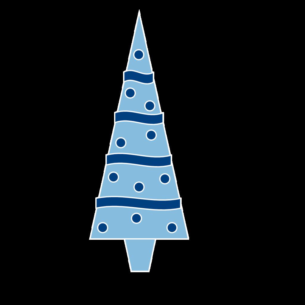 Purple christmas tree clipart