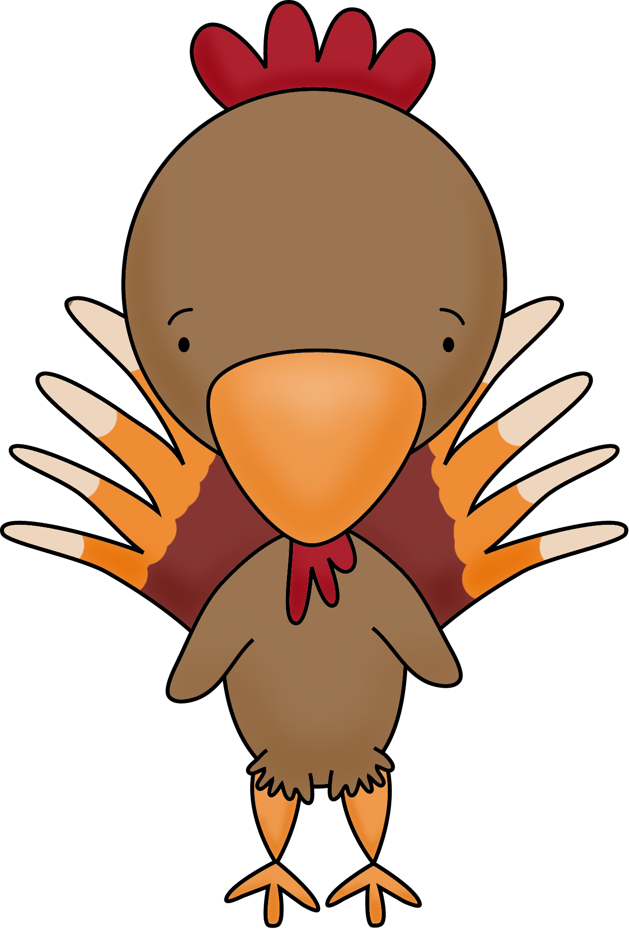 Cute baby turkey clipart svg royalty free stock Turkey Transparent PNG Pictures - Free Icons and PNG Backgrounds svg royalty free stock