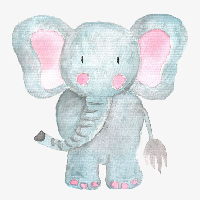 Baby watercolor elephant free clipart png transparent download Hand Painted Elephant, Cute Baby Elephant, Watercolor Elephant PNG ... png transparent download