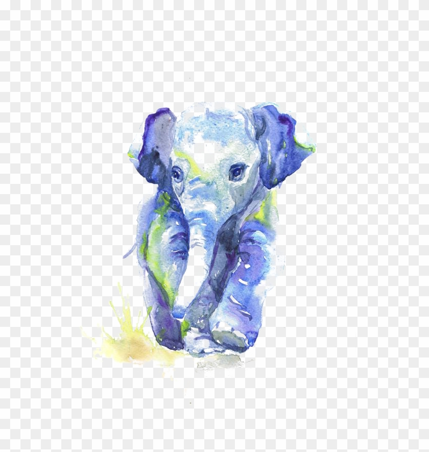 Baby watercolor elephant free clipart svg stock Drawing Elephants Sketch - Baby Elephant Watercolor Painting, HD Png ... svg stock