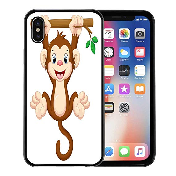 Baby with cell phone clipart graphic transparent library Amazon.com: Semtomn Phone Case for Apple iPhone Xs case,Brown ... graphic transparent library