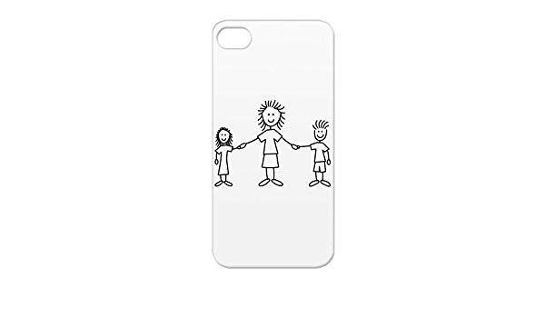Black father with kids clipart clip art library stock Amazon.com: TPU Style Girl Mother Love Happy Parents Motif Kids ... clip art library stock