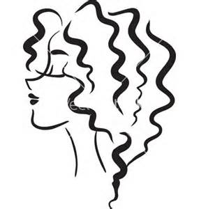 Baby with curly hair on top clipart silhouette jpg black and white Curly Hair Clipart | Free download best Curly Hair Clipart on ... jpg black and white