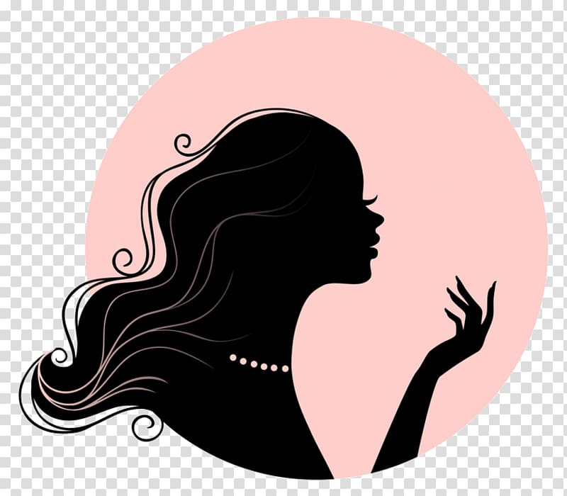 Baby with curly hair on top clipart silhouette picture free Woman bust , Woman Silhouette Female, woman transparent background ... picture free