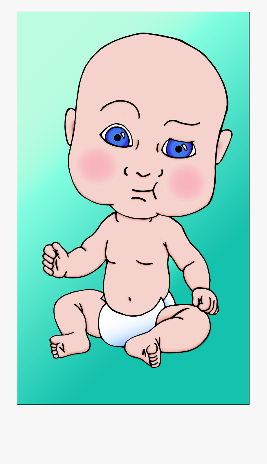 Baby with large head clipart jpg black and white Baby Head Png - Big Head Baby Cartoon, Cliparts & Cartoons - Jing.fm jpg black and white