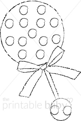 Baby with rattle clipart black and white clip art transparent Black and White Baby Rattle Clipart | Baby Toy & Supplies Clipart clip art transparent