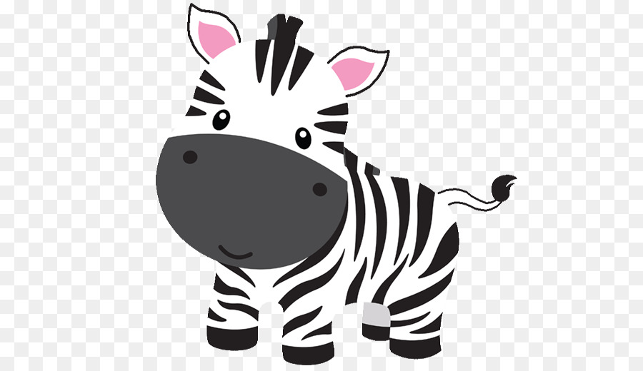 Baby zebra clipart banner black and white library Zebra Cartoon clipart - Horse, Nose, Cat, transparent clip art banner black and white library