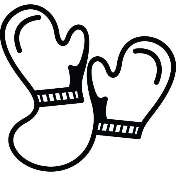 Babybwith mittens clipart jpg transparent library Mittens clip art black and white mitten clipart – Gclipart.com jpg transparent library