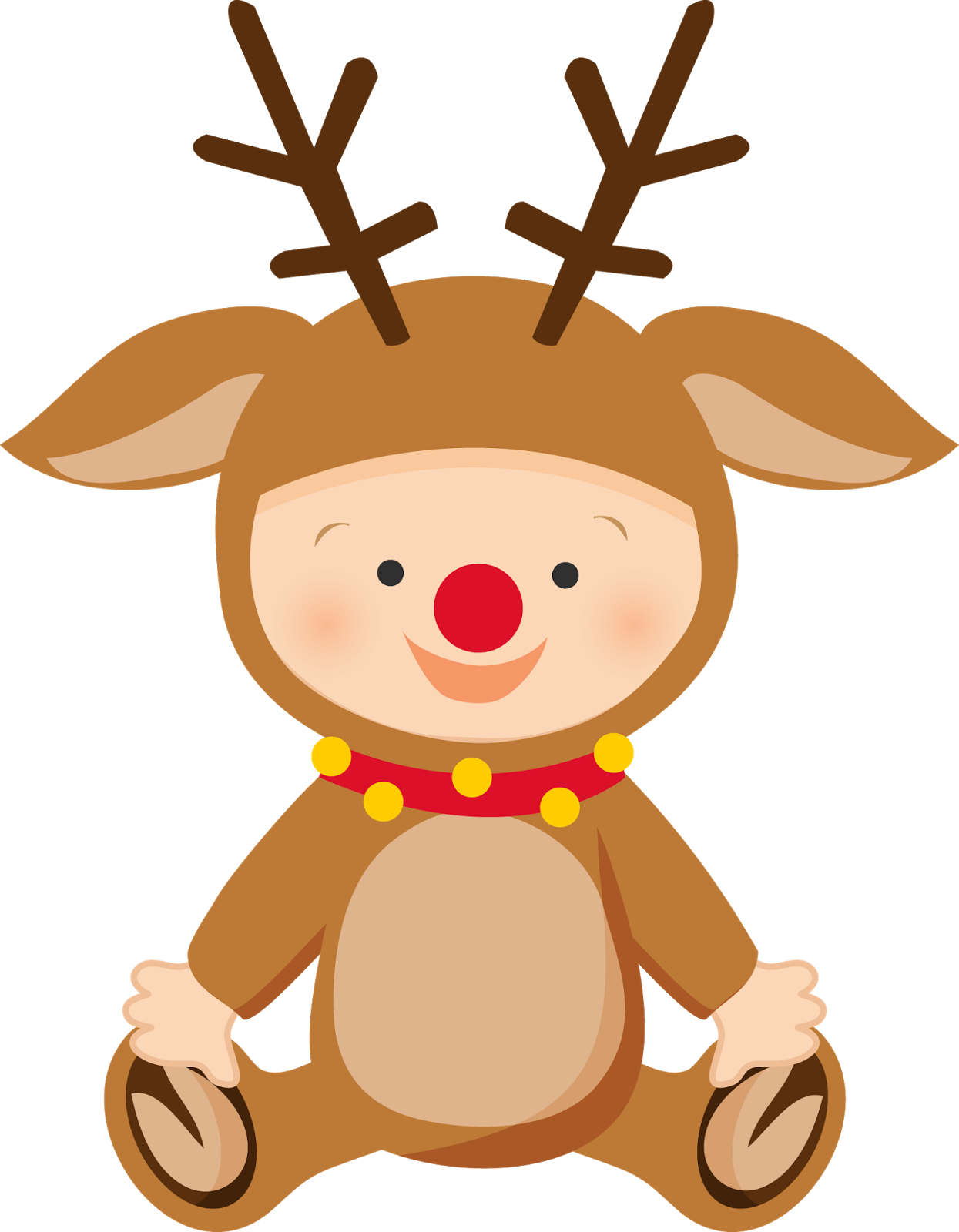 Baby's first christmas clipart jpg freeuse download Babys first christmas reindeer clipart jpg freeuse download