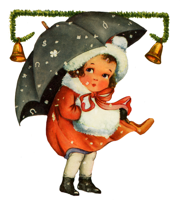 Christmas clipart vintage picture free Charming Vintage Christmas Clip Art picture free