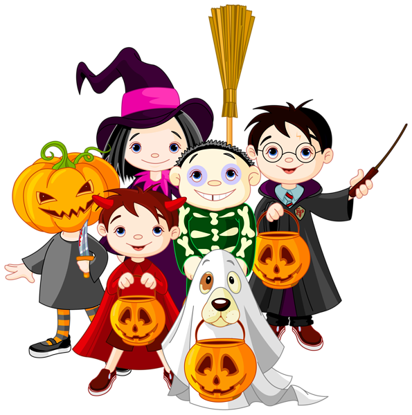 Primitive halloween clipart vector royalty free Halloween Kids PNG Clip Art Image | Halloween card | Pinterest ... vector royalty free