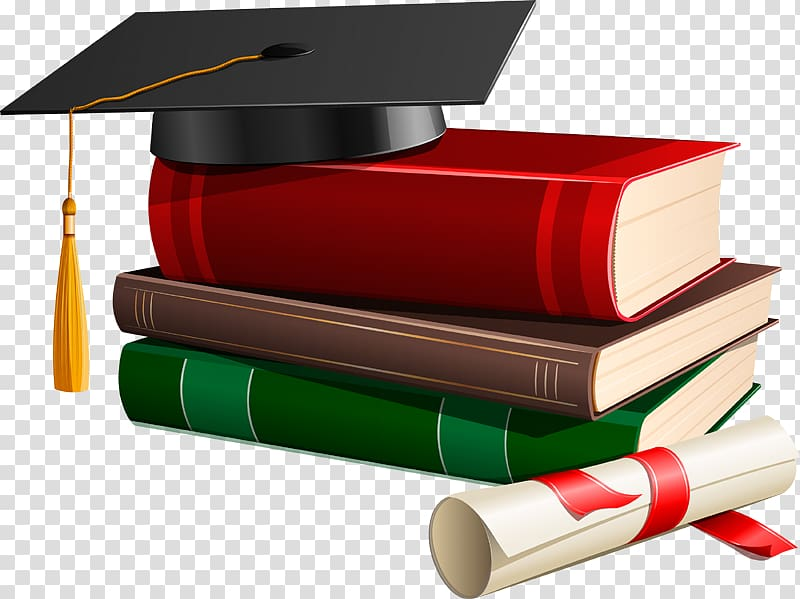 Bachelor s degree clipart jpg black and white download Graduation ceremony Square academic cap Bachelors degree , books ... jpg black and white download
