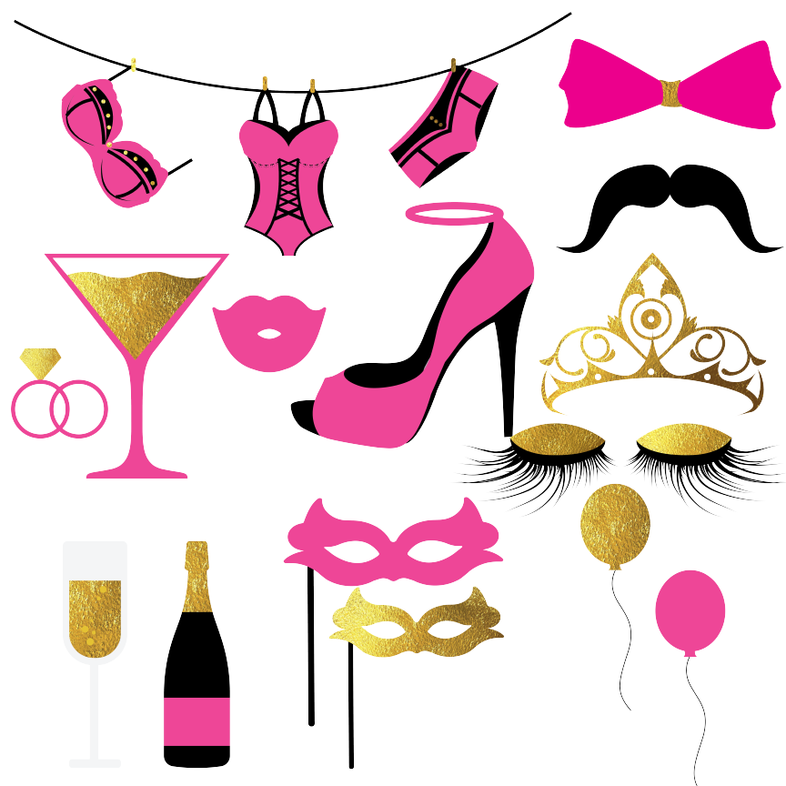 Bachelorette party pictures clipart vector royalty free library Bachelorette Party Clipart By Fantasy Cliparts | TheHungryJPEG.com vector royalty free library